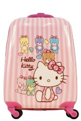 Чемодан детский Atma kids Hello Kitty, pink stripes, 44 см